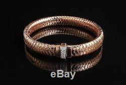 Roberto Coin Primavera 18 KT Rose Gold and Diamond Bracelet (NO RESERVE)