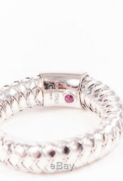 Roberto Coin Primavera 18k White Gold Ruby Ring SZ 6.5