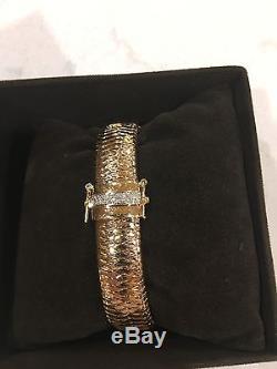 Roberto Coin Primavera Bracelet Medium 0.18cts Diamond 18k Yellow Gold $4500