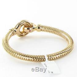 Roberto Coin Primavera Stretch Loop Bracelet 18k Rose Gold New $2900
