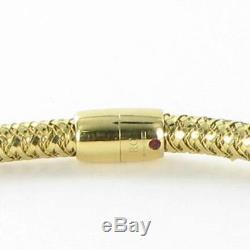 Roberto Coin Primavera Woven Diamond Station Necklace 18k Yellow Gold New $4000