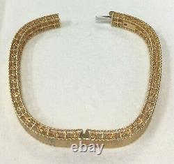 Roberto Coin Princess 18k Yellow Gold Flower Diamond Bangle Bracelet 1/2ctw 6.5
