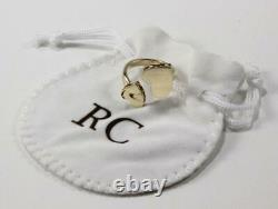 Roberto Coin Princess Double Heart Love 18k Yellow Gold Ring Size Us-6.5