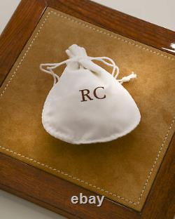 Roberto Coin Princess Flower 18k White Gold Diamond 0.30ct & Sapphire Earrings