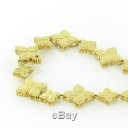 Roberto Coin Princess Flower Bracelet 18k Yellow Gold New 7771377AYLB0 New