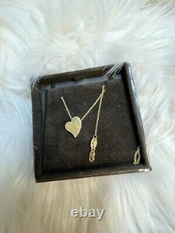 Roberto Coin Princess Heart Love 18k Yellow Gold Necklace Pendant Retail $700