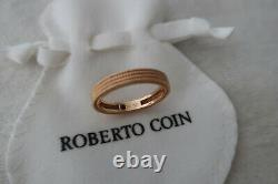 Roberto Coin Ring 18K Rose Gold Symphony Barocco Stackable Band Ring Sz 6.5 New