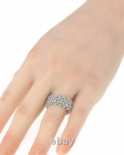 Roberto Coin Roman Barocco 18k White Gold Diamond 0.72ct Ring 6.5 7771650AW65X