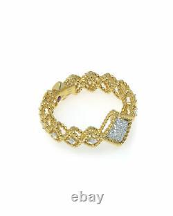 Roberto Coin Roman Barocco 18k Yellow Gold Diamond 0.30ct Ring 6.5 7771654AJ65X