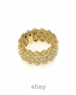 Roberto Coin Roman Barocco 18k Yellow Gold Diamond 0.72ct Ring 6.5 7771650AY65X