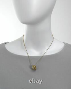 Roberto Coin Satin Golden Gate 18k Yellow Gold Diamond Necklace 7771096AJCHX1