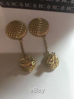 Roberto Coin Silk 18k Yellow Gold Round Drop Earrings