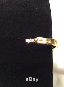 Roberto Coin Single Row 18K 750 Pois Moi Hinged Bangle Bracelet 5
