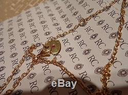 Roberto Coin Small Granada Locket Necklace 0.20ctw Diamonds 18k Y Gold NEW  122