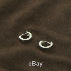 Roberto Coin Small Hinged Hoop Earrings 4mm 18k White Gold Hinged