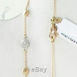 Roberto Coin Spring 11 Station Necklace Diamonds 18K Rose Gold 16 New $1500