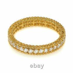 Roberto Coin Symphony 18k Yellow Gold Diamond 0.43ct Ring Sz 6.5 7771359AY65X1