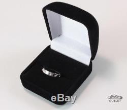 Roberto Coin Symphony Pois Moi 18k White Gold Wedding Band Ring Size Us-6.5