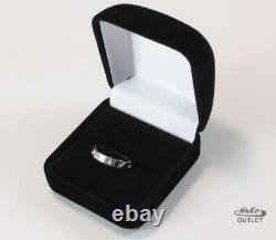 Roberto Coin Symphony Pois Moi 18k White Gold Wedding Band Ring Size Us-7