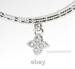 Roberto Coin Symphony Princess Flower Bangle White Gold Diamonds 7772897AWBAX