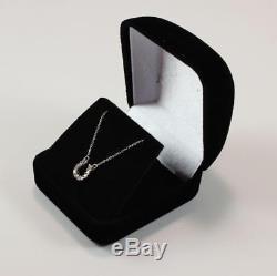Roberto Coin Tiny Treasure 18k Gold Diamond Lucky Horseshoe Necklace Pendant