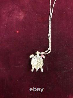 Roberto Coin Tiny Treasure 18k Gold Diamond Turtle Necklace 18k Chain