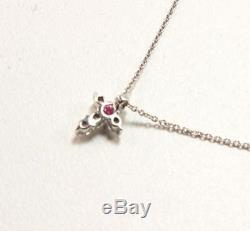 Roberto Coin Tiny Treasure 18k White Gold Diamond Baby Cross Necklace Pendant