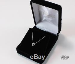 Roberto Coin Tiny Treasure 18k White Gold Diamond Heart Lovenecklace Pendant