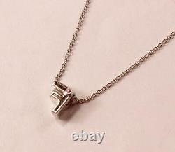 Roberto Coin Tiny Treasure 18k White Gold Diamond Letter F Initial Necklace