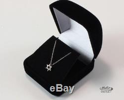 Roberto Coin Tiny Treasure 18k White Gold Diamond Star Of David Necklace Pendant