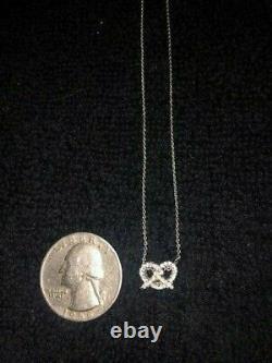 Roberto Coin Tiny Treasure Pretzel 18k White Gold Diamond Necklace Pendant