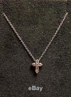 Roberto Coin Tiny Treasures 18K Gold Diamond Cross Necklace Easter Gift