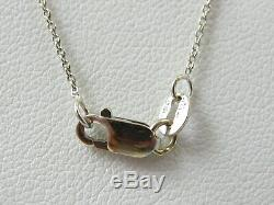 Roberto Coin Tiny Treasures 18K White Mini Diamond Heart 16 Necklace. 11ctw
