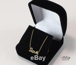 Roberto Coin Tiny Treasures 18k Yellow Gold Love Necklace Pendant