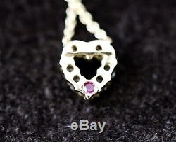 Roberto Coin Tiny Treasures Diamond Heart Necklace in Yellow Gold, 0.11 cttw