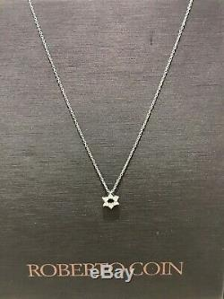Roberto Coin Tiny Treasures Star Of David 18K White Gold Diamond Pendant