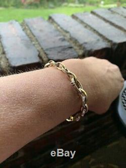 Roberto Coin Two Tone 18k Gold Bracelet