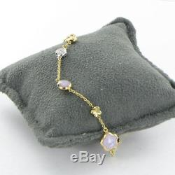 Roberto Coin Violet Star Butterfly Diamond Bracelet 18k Yellow Gold New $1300