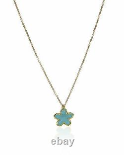 Roberto Coin Womens Flower 18k Yellow Gold Pendant Necklace 915741AY18N3