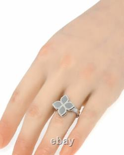 Roberto Coin Womens Princess 18k White Gold Statement Ring Sz 6.5 7771378AW650