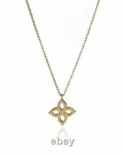 Roberto Coin Womens Princess 18k Yellow Gold Pendant Necklace 8882443AY180