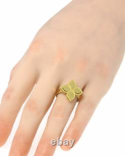 Roberto Coin Womens Princess 18k Yellow Gold Statement Ring Sz 7 7771378AY700