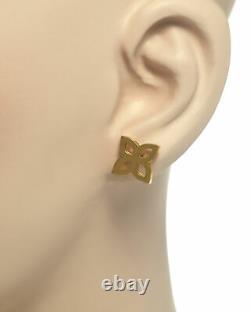 Roberto Coin Womens Princess 18k Yellow Gold Stud Earrings 8882443AYER0