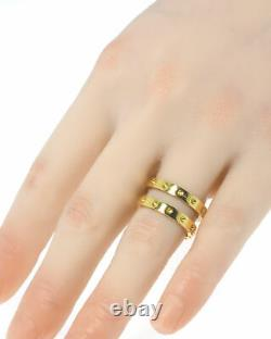 Roberto Coin Womens Symphony 18k Yellow Gold Statement Ring Sz 7 7771657AY700