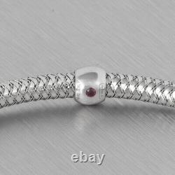 Roberto Coin Woven Primavera Stretch 18k White Gold Bangle Bracelet Size 6.5-7
