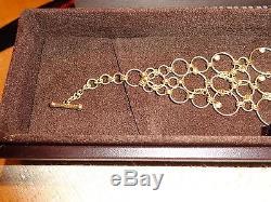 Roberto Coin Yellow Gold Link Bracelet, 7 Diamond