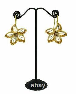 Roberto Coin brown diamond flower earrings in 18k rose gold
