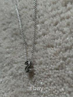 Roberto Coin necklace Diamond 18k White Gold Initial Necklace S Italy Italian