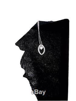 Roberto Coin white 18K Gold Diamond Barocco Pendant CHAIN Necklace New $1,200