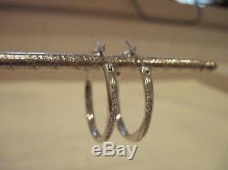 Roberto coin white gold diamond hoops